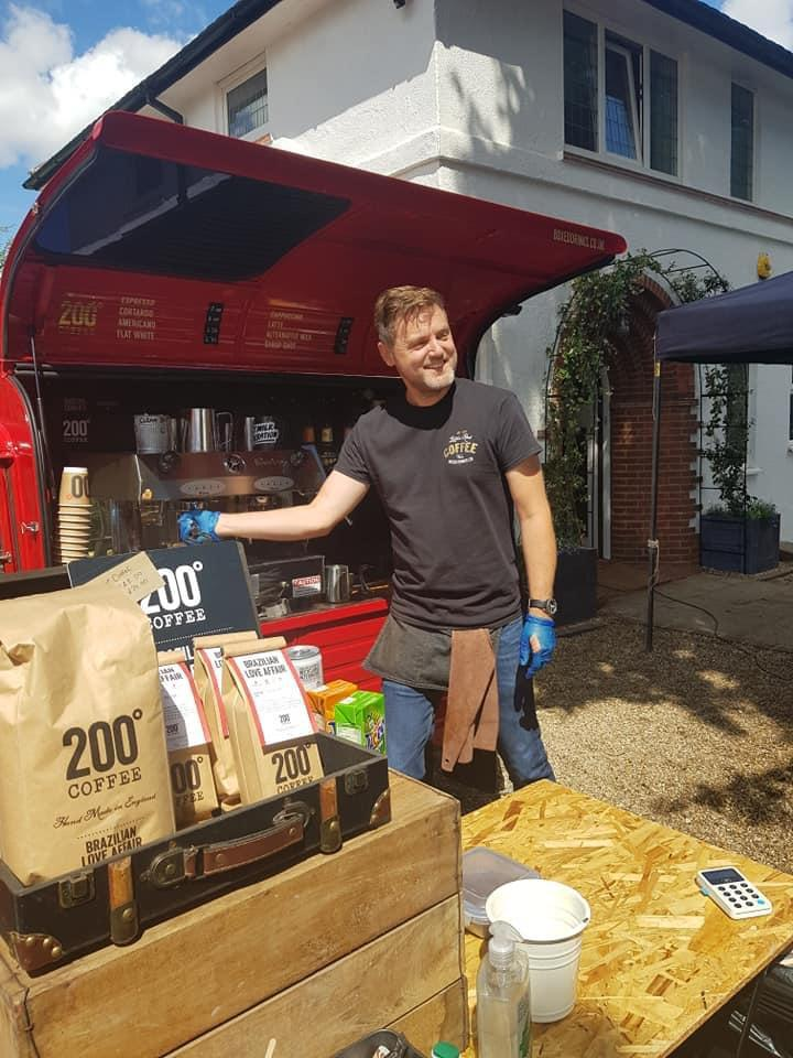 Over £1,000 raised for Nottingham charity through socially distanced coffee and cake - Boxed Drinks serving 200 Degress coffee