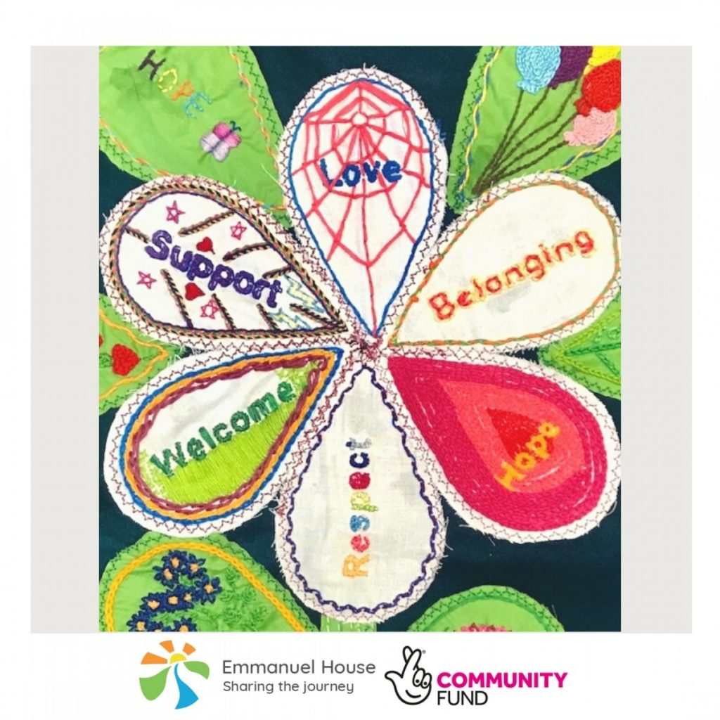 Women's Group embroidery celebrates what makes Nottingham charity Emmanuel House so valuable